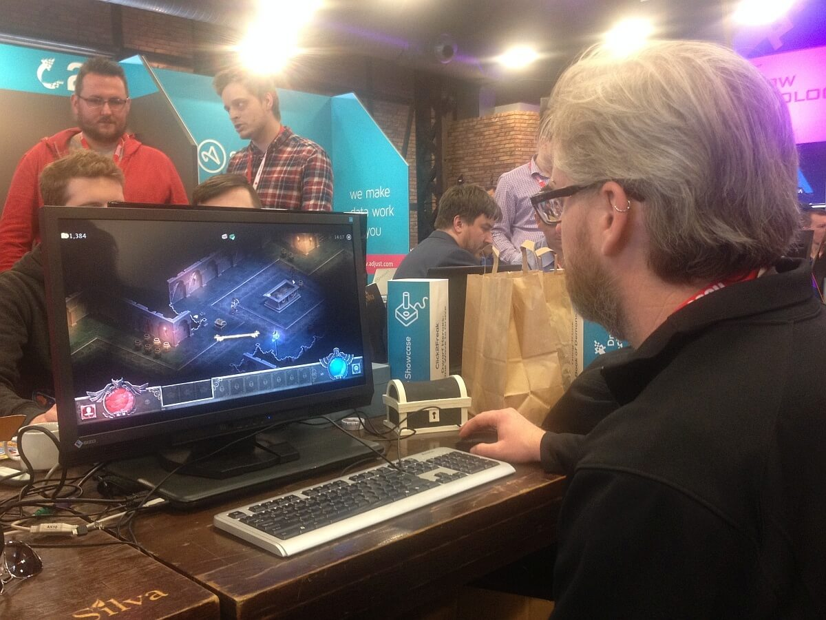 David Brevik, the designer of Diablo, playing Book of Demons.