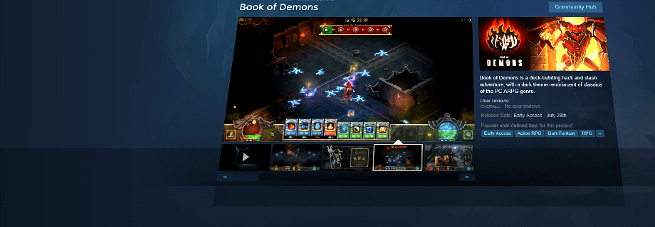 Book of Demons Demo on Steam